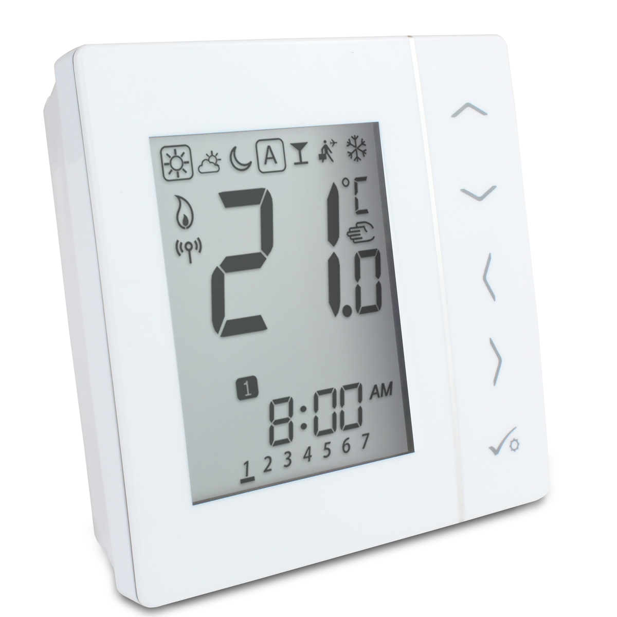 salus 4 in 1 digitales thermostat funk salus vs20wrf batteriebetrieben g nstig kaufen. Black Bedroom Furniture Sets. Home Design Ideas