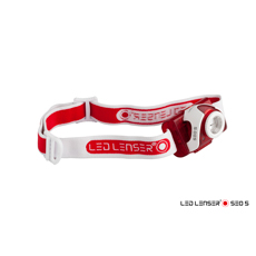 LED Stirnlampe LED Lenser SEO 5 rot, batteriebetrieben