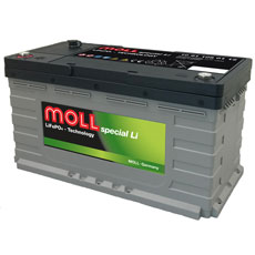 MOLL  spezial  Li Batterie 12,8 V / 105 Ah, CAN 2.0 Port